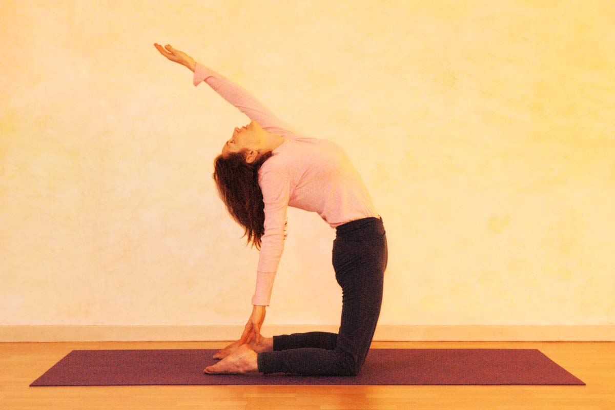 Yogaübung Kamel, Bewegungsphase
