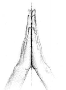 Hände vertikale Ebene