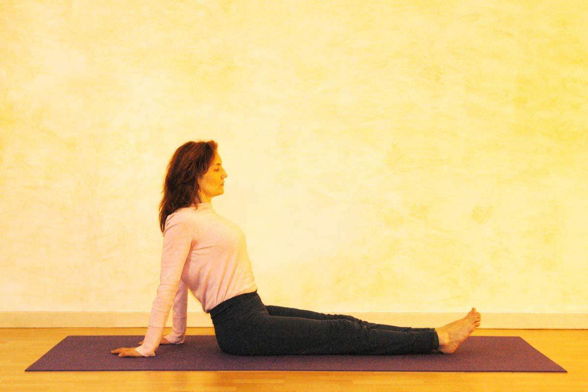 Yogaübung Schiefe Ebene Vorbereitung