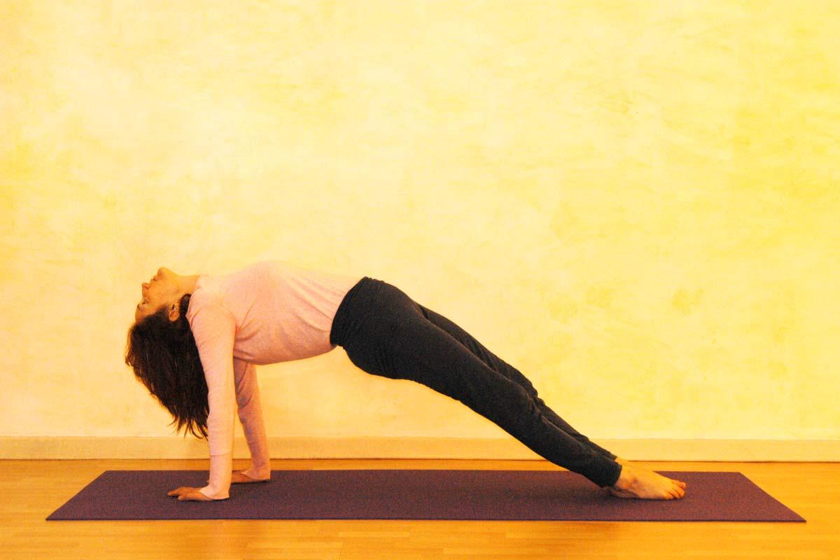 Yogaübung Schiefe Ebene, Haltephase