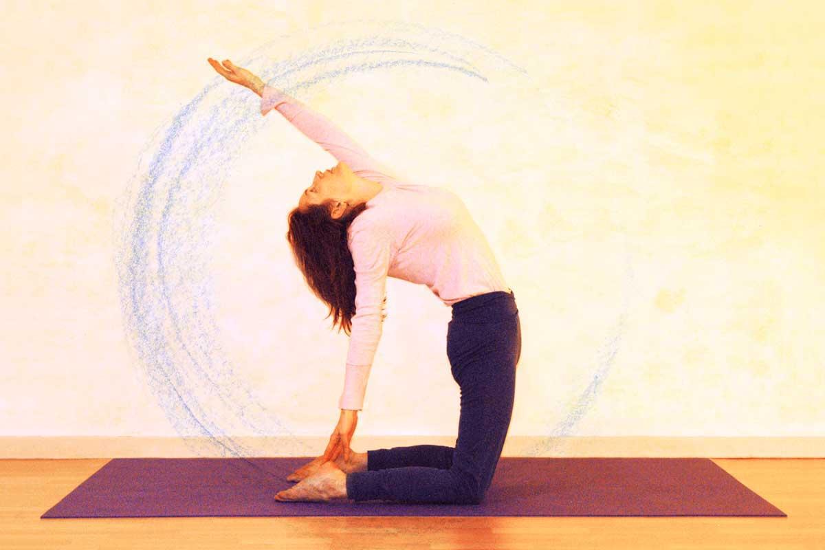 Yogaübung Kamel, Armbewegung