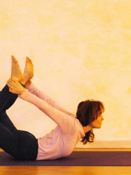 """Die Yogaübung """"Bogen"""""""